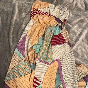Bar III high low strapless maxi dress